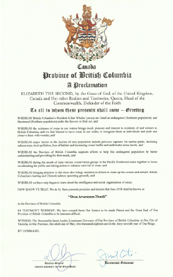 2018 Proclamation from BC