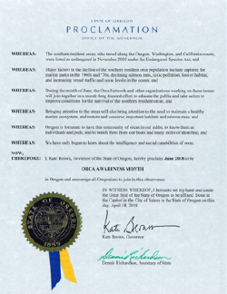 2018 Proclamation from Oregon