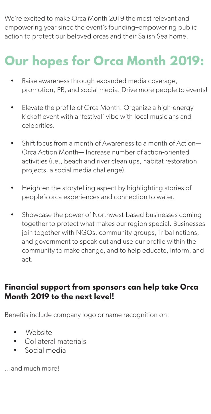 2019 WEC Orca Month Sponsorship split 2nd page